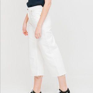 Cheap Monday Ally Blank White Cropped Wide Leg Jeans